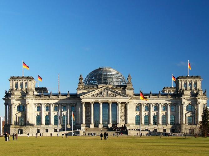 Купол Рейхстага в Берлине (Германия)