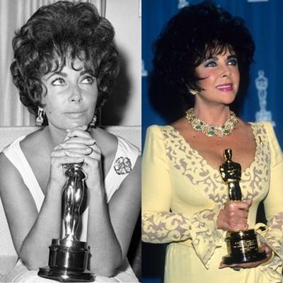 22. Conseguiu dois prêmios da Academia, por Uma mulher marcada e por quem tem medo de Virginia Wolf? Ela é, juntamente com Marlon Brando, a única pessoa que foi indicada ao prêmio de Melhor Atriz em quatro ocasiões consecutivas, entre 1957 e 1960.