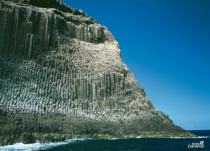 The pillars of Los Órganos (La Gomera)
