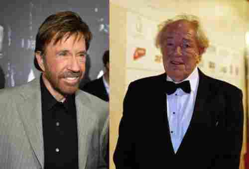 Chuck Norris and Michael Gambon (1940, 73 years old)