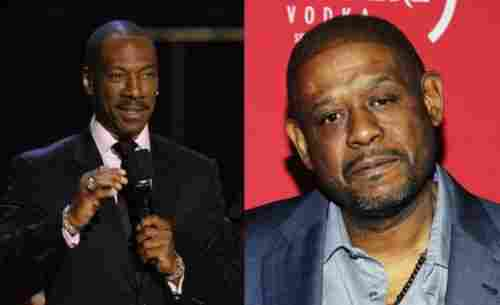Eddie Murphy and Forest Whitaker (1961, 52 years old)