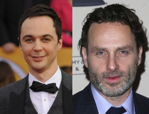 Jim Parsons and Andrew Lincoln (1973, 40 years old)