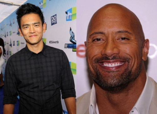 """John Cho and Dwayne """"The Rock"""" Johnson (1973, 40 years old)"""