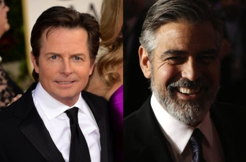 Michael J. Fox and George Clooney (1961, 52 years old)