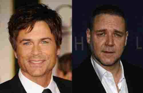 Rob Lowe and Russell Crowe (1964, 49 years old)