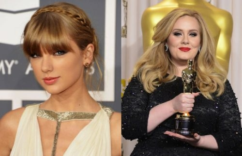 Taylor Swift and Adele (1989 and 1988, 23 and 24 years old)