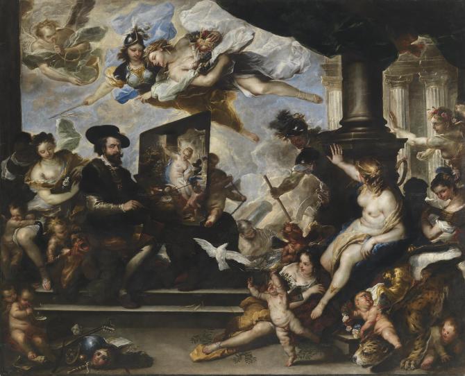 Рубенс рисует Аллегорию Мира (Лука Джордано)