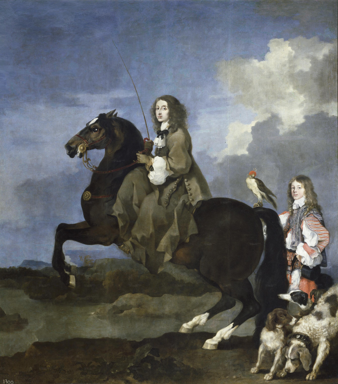 Кристина из Швеции верхом на лошади (Бурдон, Себастьян)