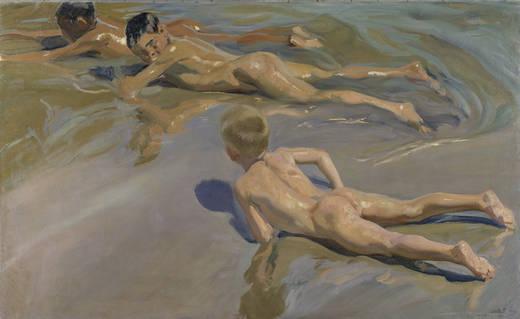 Мальчики на пляже (Соролла)