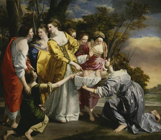 Моисей спас от вод (Джентилески)
