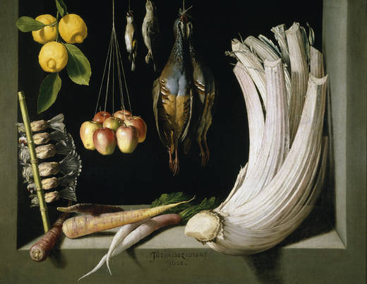 Натюрморт из дичи, овощей и фруктов (Санчес Котан)