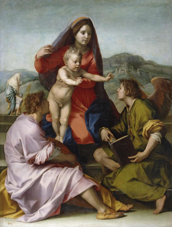 Богоматерь с младенцем между Матфеем и ангелом (Сарто, Андреа дель)