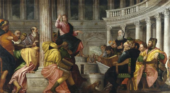 Спор с врачами в храме (Веронезе)