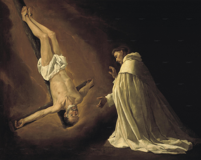 Явление Апостола Святого Петра Святому Петру Ноласко (Сурбаран)