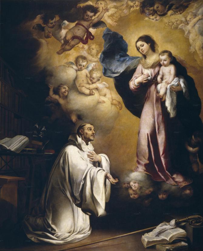 Apparition of the Virgin to San Bernardo (Murillo)