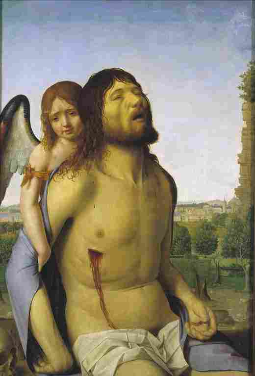 Dead Christ, supported by an angel (Antonello de Messina)