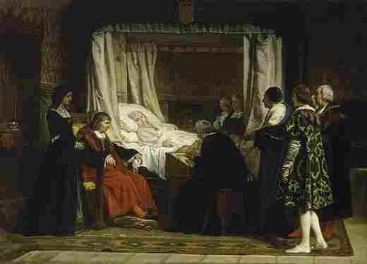 Doña Isabel La Católica dictating her will (Rosales)