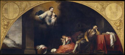 Foundation of Santa María Maggiore of Rome: I. The dream of Patrick Juan (Murillo)