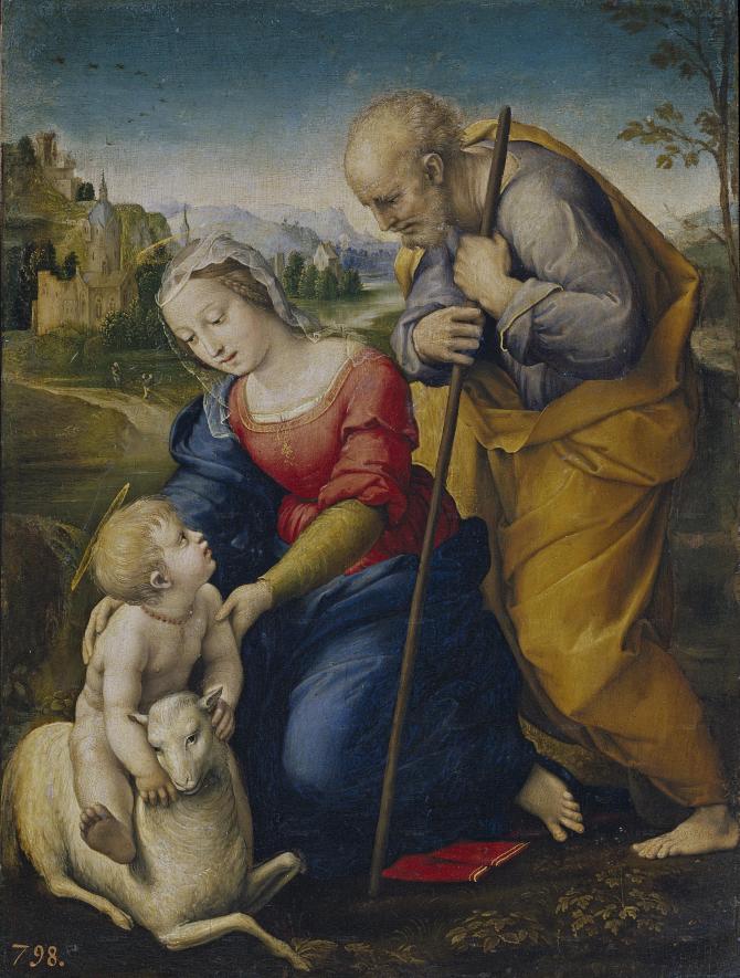 Holy Family of the Lamb (Rafael)