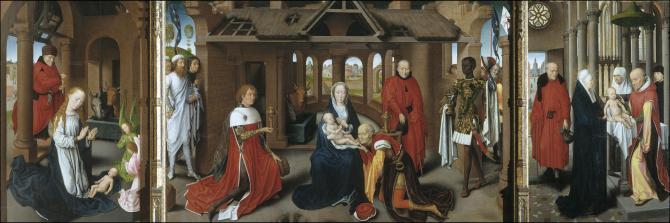 Natividad. Поклонение королей. Очищение (Мемлинг, Ганс)