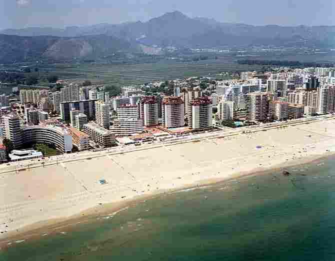 North Beach of Gandia (Valencia)