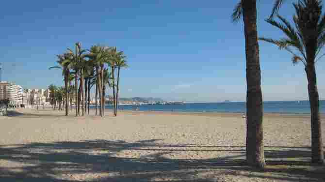 Playa Centro de Villajoyosa (Alicante)