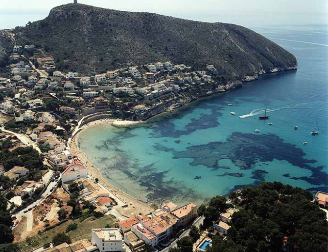 Portet beach of Moraira-Teulada (Alicante)