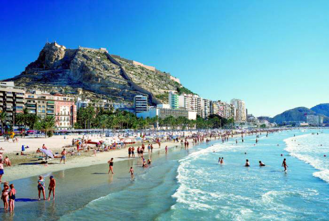 Postiguet Beach of Alicante (Alicante)