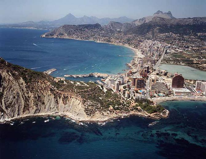 Praia Cala del Penyal em Calpe (Alicante)