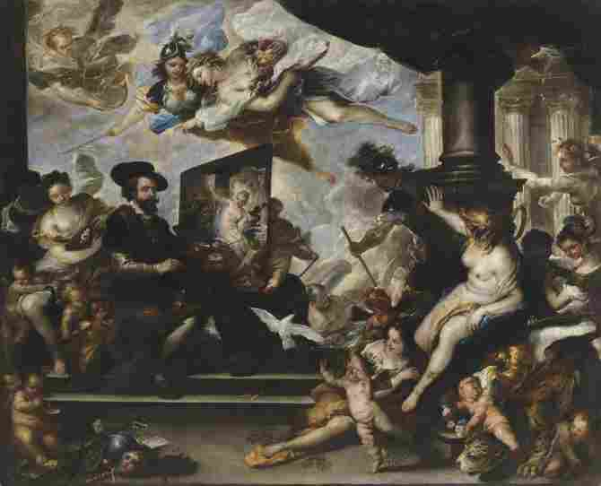 Rubens painting the Allegory of Peace (Luca Giordano)