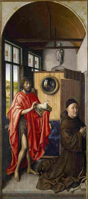 Saint John the Baptist and the Franciscan teacher Enrique de Werl (Campin, Robert)