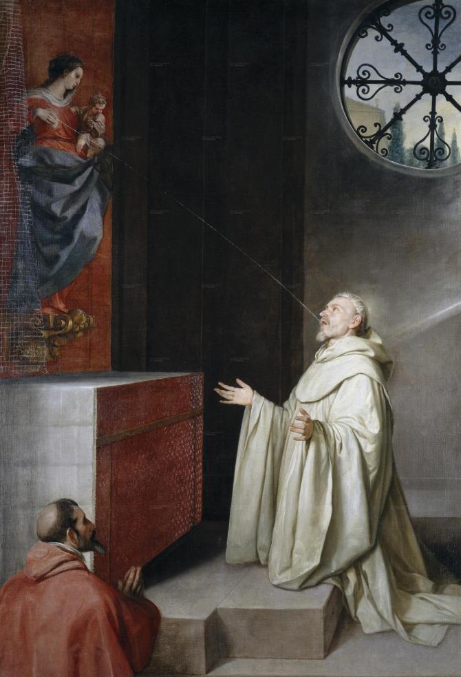 San Bernardo and the Virgin (Cano, Alonso)