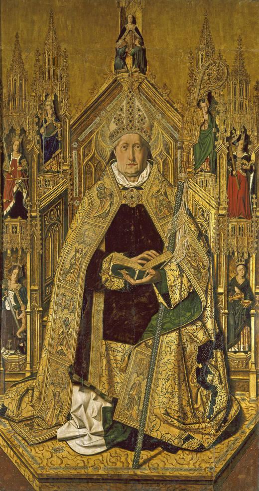 Santo Domingo de Silos enthroned as bishop (Bartolomé Bermejo)