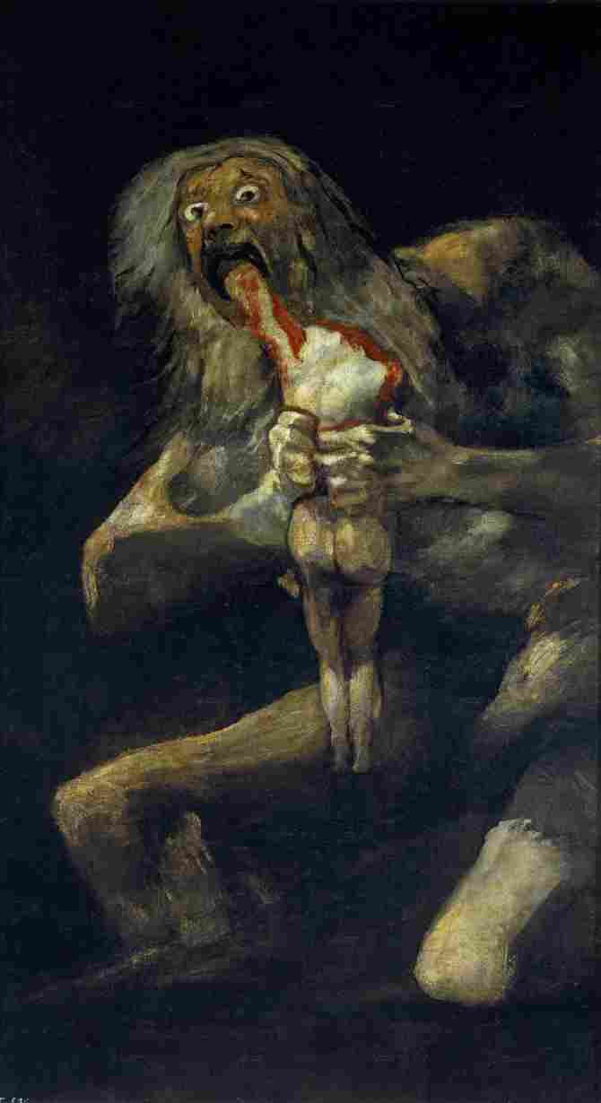 Saturn devouring a son (Goya)