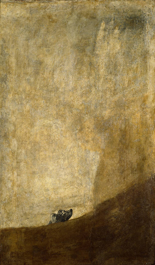 Semi-sunken dog (Goya)