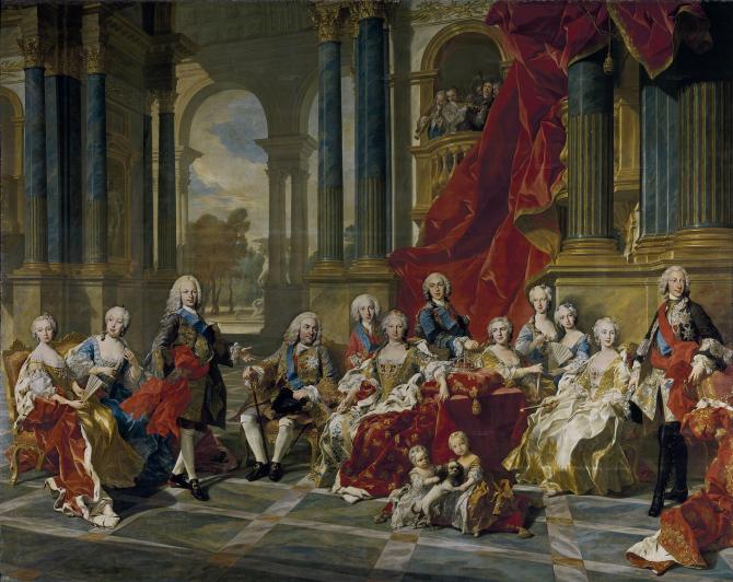 The family of Felipe V (Loo, Louis Michel van)