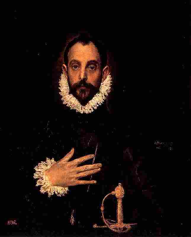 The knight's hand on his chest (El Greco)