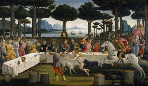 The story of Nastagio degli Onesti (Botticelli)