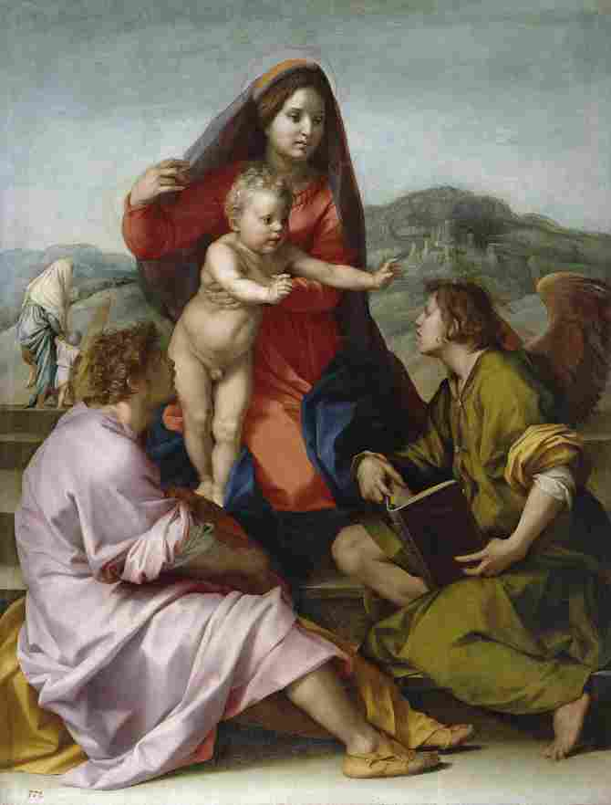 The Virgin with the Child between San Mateo and an angel (Sarto, Andrea del)