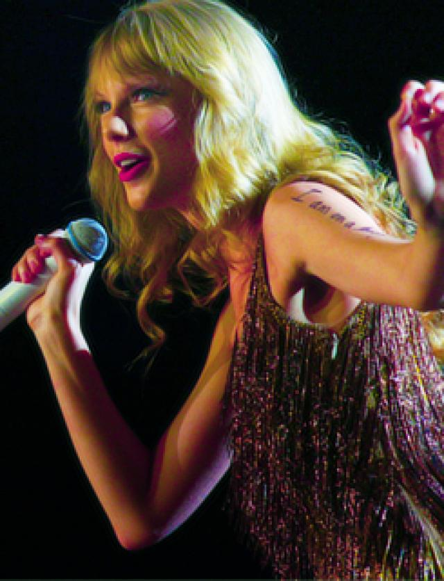 Swift has sold more than 22 million albums and 50 million song downloads worldwide.
