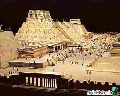 ceremonial center of Tenochtitlan