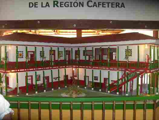 peasant house. Coffee Park (Colombia)