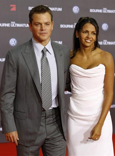 Matt Damon dan Luciana Barroso