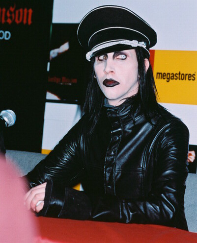 Marilyn Manson was a music reporter before becoming a singer.