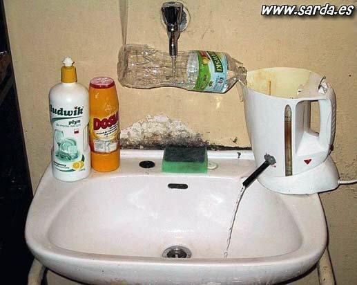 Água quente em casa