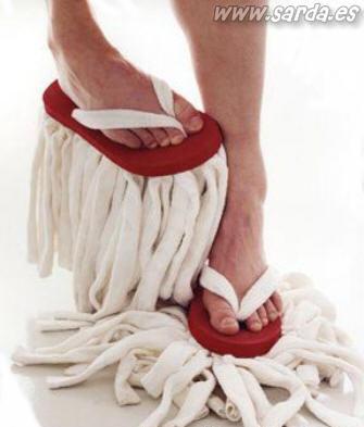 Calçado-esfregão