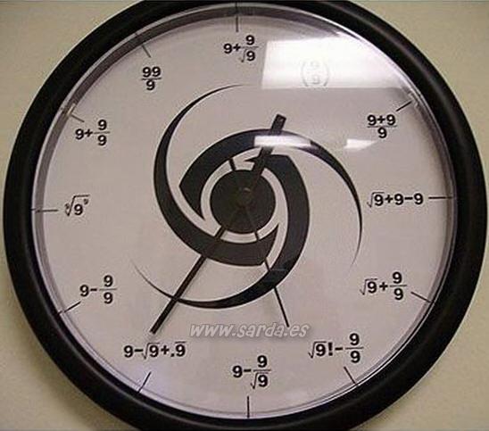 Relógio de matemática