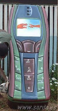 Telefone móvel-caixão