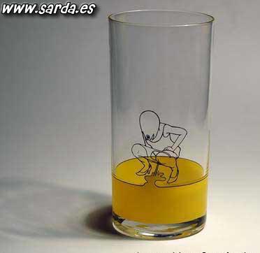 Um copo para meons