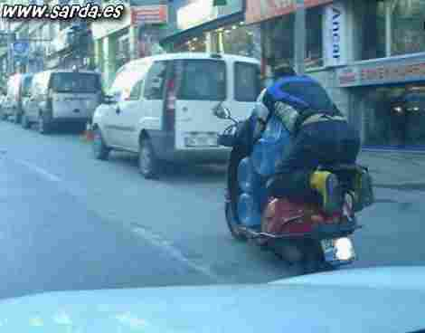 Water transport by motorcycle